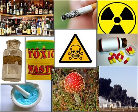 Toxic substances include poisons, chemicals, biological agents and radioactive materials